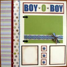 Boy Oh Boy scrapbook layout