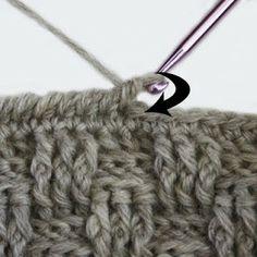 knot•sew•cute design shop: how to do a reverse single crochet stitch. ༺✿ƬⱤღ✿༻