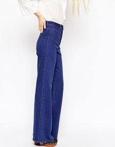 I've always liked the high-waisted, wide-leg jeans.