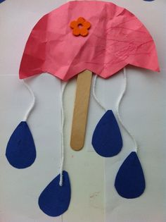 umrella activities   is for Umbrellas on a Rainy Day Art Activity for Toddlers ...