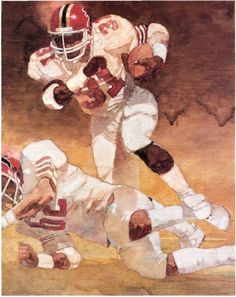 Bart Forbes story illustration about William Andrews for SI, May Falcons Football, Football Art, Football Helmets, Football Stuff, Nfl, Helmet Logo, Sport Icon, Iron Art, Atlanta Falcons
