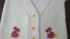 2 Renkli Yakalı Yandan Yırtmaçlı Yelek Nasıl Örülür. 5 . 6 yaş. – Örgü resimli anlatımlı örgü sitesi Baby Knitting Patterns