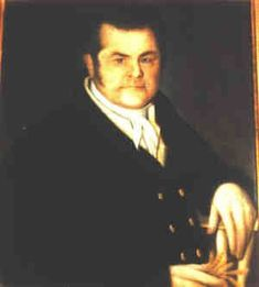 This is Garrett Van Swearingen (1636-1698), a Dutchman who emigrated to colonial Maryland/Delaware.  He is my 9th great grandfather on my mom's side.  I 'm trying to figure out what he's holding.  Is it a chicken foot?    What is the meaning?  If anyone knows, please share!