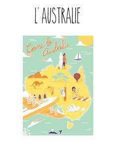 Club voyage autour du monde: fichier d'activités à imprimer sur l'Australie