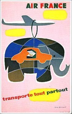 postcard - Air France Cargo poster 1958 2 | http://halloween8478.blogspot.com