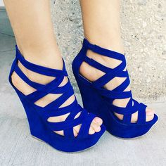 Strappy Open Toe Platform Wedges - http://myshoebazar.com/product/strappy-open-toe-platform-wedges/
