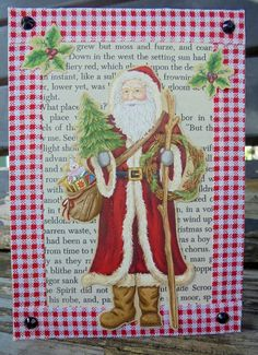 Santa Christmas, Christmas Crafts, Original Gifts, Fiery Red, Etsy Store, Great Gifts, Awesome, Classic, Handmade Gifts