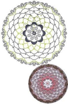 예쁜 코바늘 원형 도일리 무료도안 : 네이버 블로그