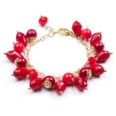 July birthstone: Ruby colored bracelet from the July 2013 issue of Bead Style.