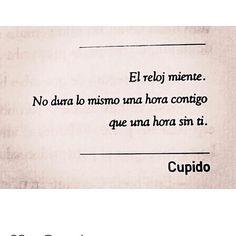 El reloj miente... #amantedeletras