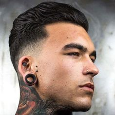 Low Shadow Fade with Brushed Back Hair