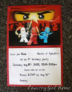 Okay my 8 year old son is crazy about NINJAGO anything. So as you can see that is what he picked for the theme of his party. Thank goodne...