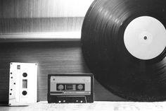 Audio cassettes and vinyl