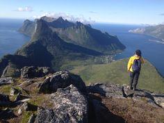 Overlooking Husøya on Mt. Baren. Senja, Norway