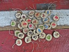 Woodland Animal Gift Tags  All in Red and by MonkeysOnTheRoofKids,16/ $12.80