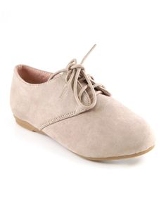 This Taupe Oxford Dress Shoe by Anna Shoes is perfect! #zulilyfinds