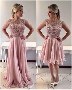 A-line Evening Dresses 2018 Chiffon Prom Dresses, Beading Prom Dresses,Formal Women Dress,prom dress