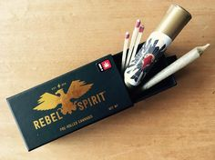 """114 Likes, 9 Comments - Rebel Spirit Cannabis (@rebelspiritcannabis) on Instagram: """"Pre-rolled packaging and Doobie tube. Throw a few matches in and you've got a sesh!…"""""""