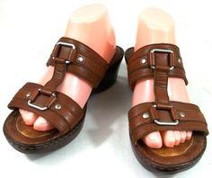 2ce95e1b997a Born Shoes Womens Size 9 M Brown Leather Clogs Sandals  Brn  Clogs Clog  Sandals