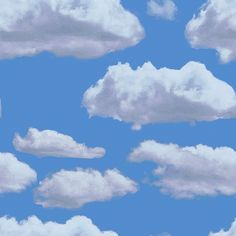 neatly positioned clouds