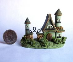 Handmade Miniature FAIRYTALE COTTAGE HOUSE - OOAK by C. Rohal #CRohal