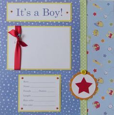 20 BABY BOY Scrapbook Pages for 12x12 FiRsT YeAr by JourneysOfJoy