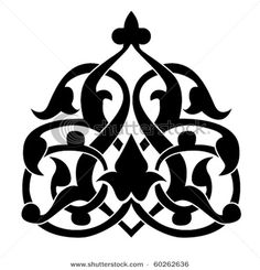 Arabic Floral Pattern - This image is a vector illustration and can be scaled to any size without loss of resolution.