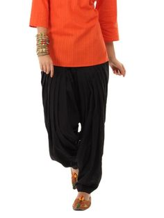 Harem Pants, Trousers, Patiala Salwar, India, Popular, Suits, Female, Black, Fashion