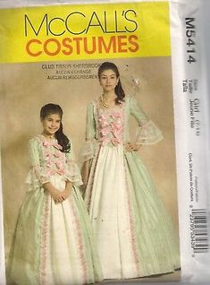 Mccalls Sewing Patterns, Mademoiselle, Sewing Stores, Sewing Crafts, Flower Girl Dresses, Gowns, Colonial, America, Costumes