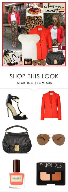 """...You made no preparation for my reputation..."" by klaudia ❤ liked on Polyvore featuring ASOS, Kershaw, Zara, Cédric Charlier, L.K.Bennett, Miu Miu, Tom Ford, NARS Cosmetics, t-strap shoes and leopard print"