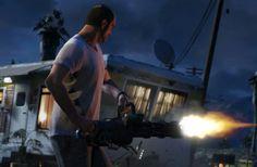 Trevor with a minigun
