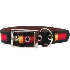 Shotgun Shell Needlepoint Dog Collar