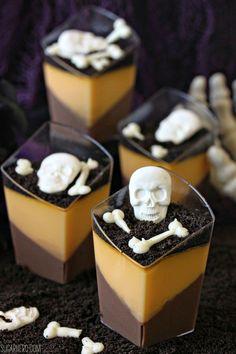 Halloween Gala Celebration..These are very good. Must try........Chocolate Orange Panna Cotta.