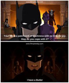 Batman in Justice League Dark Batman Quotes in Justice League Hollywood Quotes, Batman Quotes, Justice League Dark, Marvel, Animation, Joy, Butler, Instagram Posts, Movie Posters