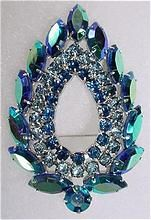VINTAGE Sarah Coventry Famous Blue Lagoon Brooch