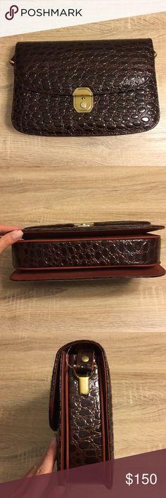 NWOT GENUINE TURTLE LEATHER BAG NWOT GENUINE TURTLE LEATHER BAG Bags Shoulder Bags
