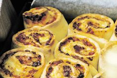 Cheese, Ham and Rosemary Pinwheel Scones recipe, Bite – These are fantastic for picnics and lunch boxes. They are very easy to make and delicious warm or cold. – foodhub.co.nz