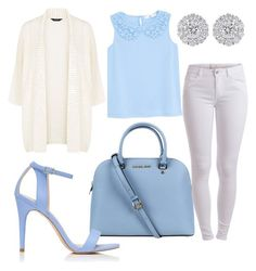 """""""BLUE & WHITE"""" by aqeelah-katongole on Polyvore featuring Michael Kors, Pieces, Forever New and MANGO"""