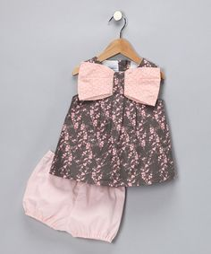 Take a look at this Pink Reese Dress & Diaper Cover by Baby Sophisticates on #zulily today!
