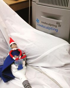 Cosmo, the elf on the dermatology shelf, is taking a break from mischief to lose a few inches with CoolSculpting!! He looks very happy!! You can get happy too. Purchase CoolSculpting online from the Online Store at Welch SkinCare Center in Pensacola, FL.