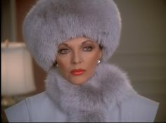 """And don't forget the matching fur hat.   19 Impeccable Style Tips From """"Dynasty's"""" Alexis Carrington"""