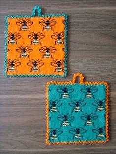 Knitting Patterns Free, Free Knitting, Free Pattern, Cute Crochet, Crochet Hooks, Knit Crochet, Cross Stitch Charts, Knitting Needles, Pot Holders