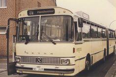 Dieser Setra-Bus fuhr 1983 den Handweiser in Düsseldorf an.