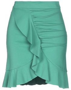 Jersey Ruffles Basic solid color No pockets Side closure Zip Fully lined Stretch Ruffles, Short Dresses, Mini Skirts, My Style, Green, Fashion, How To Wear Scarves, Outfits, Dresses For Ladies