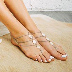 Eclipse Shell Barefoot Sandals