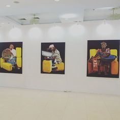 Our booth at with hyperrealistic paintings depicting Accra's residents. Accra, African Art, Ghana, Paintings, Instagram Posts, Home Decor, Africa Art, Paint, Room Decor