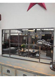 Miroir atelier riveté 120x90 objets déco Pinterest