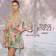 "THINK JUNGLE! Today I want you with a colorful, ""jungle chic"" and romantic -ethnic style! ‪#‎emamo‬ ‪#‎ss15‬ ‪#‎jungle‬ ‪#‎beachwear‬ ‪#‎fashion‬ ‪#‎madeinitaly‬ ‪#‎styletips‬"