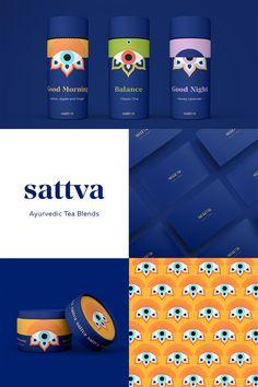 Tea Packaging, Food Packaging Design, Brand Packaging, Brand Identity Design, Ui Design, Branding Design, Graphic Design, Ayurvedic Tea, Tea Brands