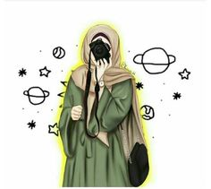 Hijabi Girl, Girl Hijab, Cute Cartoon Girl, Cartoon Art, Tmblr Girl, Hijab Drawing, Army Drawing, Islamic Cartoon, Hijab Cartoon